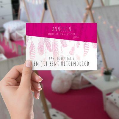 Optie uitnodigingen Pretty&Pink recto